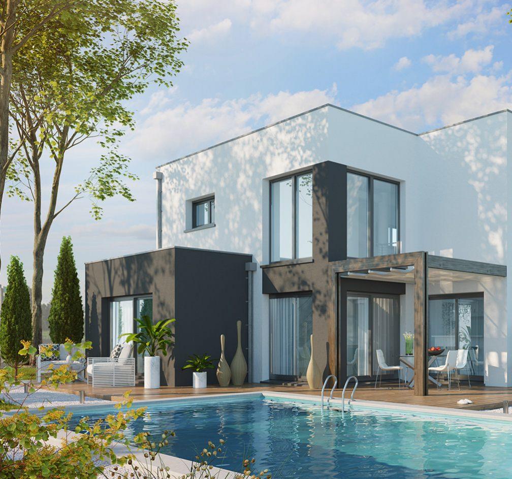 Construction Neodoma maison standing avec piscine